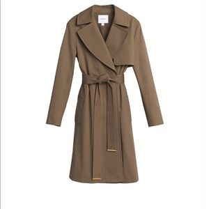 Cuyana Classic Trench Coat Olive XS